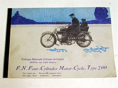 Lot 85 - A Sales Brochure for the 'FN 4-Cylinder Motorcycle', Type-700