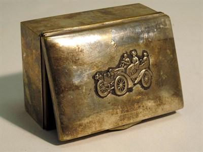 Lot 48 - A Motoring Trinket Box