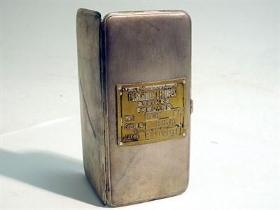 Lot 55-A Hallmarked Sterling Silver Cigarette Case