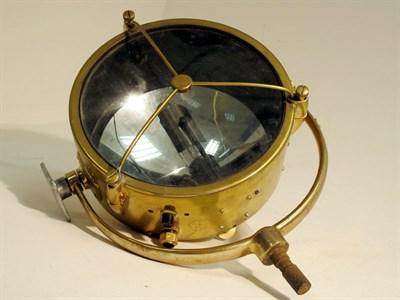 Lot 65 - A Large Brass Searchlight