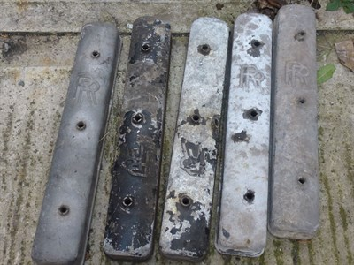 Lot 426 - Eight Rolls-Royce Rocker Covers