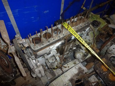 Lot 457 - A Rolls Royce Engine Block, Crankcase and Gearbox