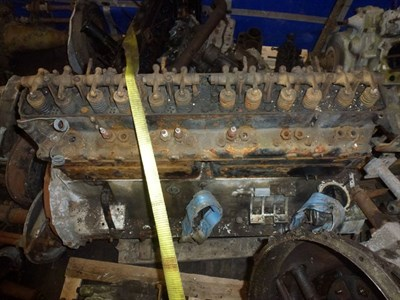Lot 460 - A Rolls Royce Engine Block, Crankcase and Cylinder Head
