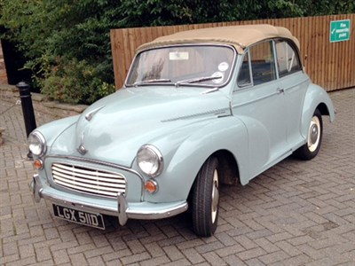 Lot 63 - 1966 Morris Minor 1000 Convertible