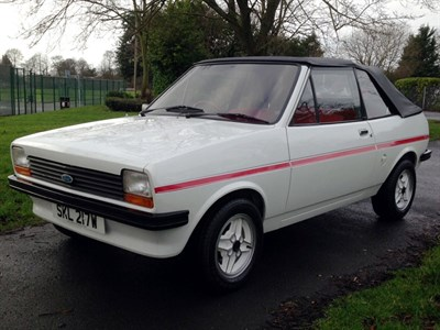 Lot 24 - 1980 Ford Fiesta 'Fly' Crayford Convertible