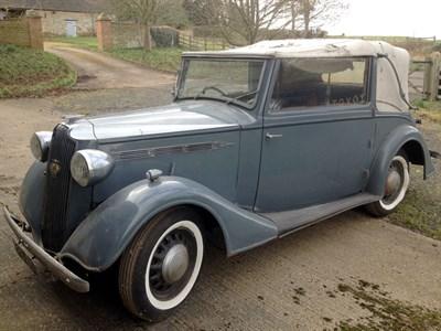 Lot 88 - 1937 Vauxhall DX 14/6 Drophead Coupe