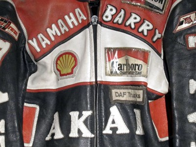 Lot 13-Dainese Barry Sheene Akai Yamaha Leathers