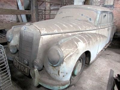 Lot 4 - 1954 Mercedes-Benz 300 B 'Adenauer' Saloon