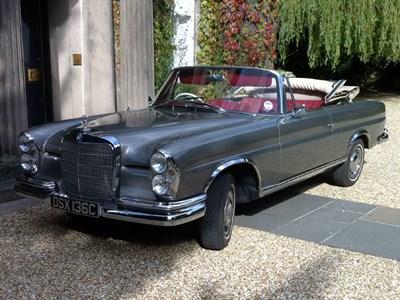 Lot 78 - 1965 Mercedes-Benz 300 SE Cabriolet