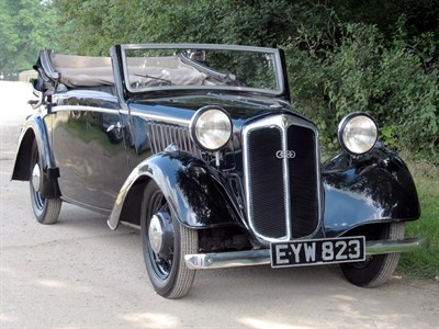 Lot 8-1937 DKW F5 700 De Luxe Drophead Coupe
