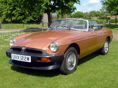 Lot 30-1981 MG B LE Roadster