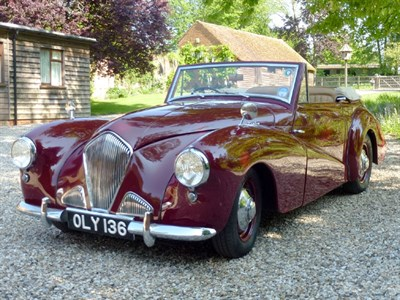 Lot 65-1954 Healey Abbott Drophead Coupe