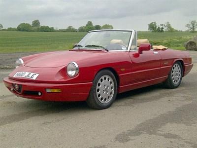 Lot 14 - 1991 Alfa Romeo Spider 2.0 S4