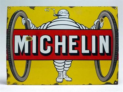 Lot 26 - Rare 'Michelin Tyres' Enamel Sign