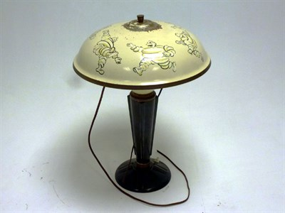 Lot 30 - A Michelin Tyres Bakelite Desk Lamp, 1930s