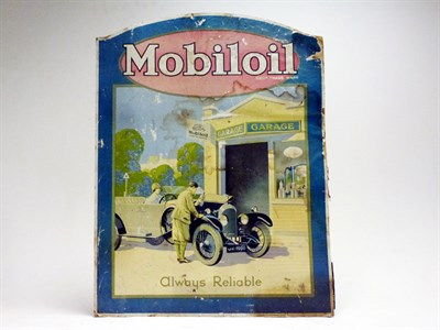 Lot 35-A Rare Mobiloil / Bentley Motors Showcard