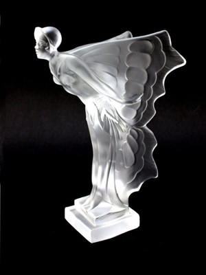 Lot 38 - A 'Butterfly Lady' Frosted Glass Motorcar Mascot