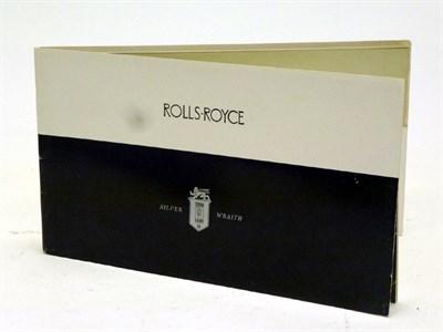 Lot 33 - Rolls-Royce Silver Wraith Single Carburettor Transitional Model Portfolio