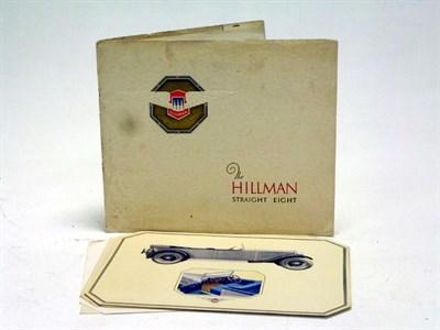 Lot 34-A Rare Hillman Straight-8 Special Brochure
