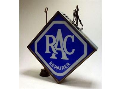 Lot 36 - An Original R.A.C. Repairer Illuminated Lightbox**