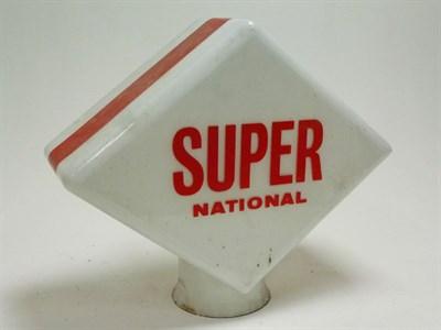 Lot 40-A Super National Glass Petrol Pump Globe*