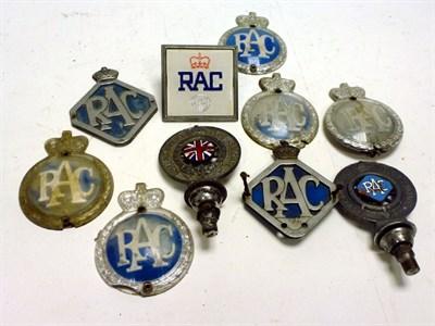 Lot 41 - Ten RAC Royal Automobile Club Car Badges