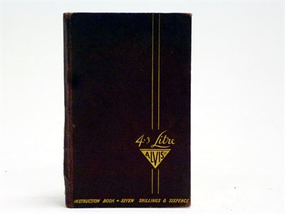 Lot 46 - An Alvis 4.3 Litre Instruction Book