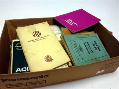 Lot 76 - A Quantity of Motor Car Handbooks.