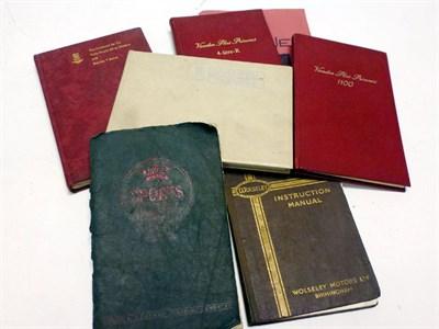 Lot 77-A Quantity of Motor Car Handbooks