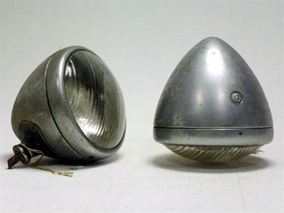 Lot 89 - A Pair of Lucas 'Torpedo' Headlamps