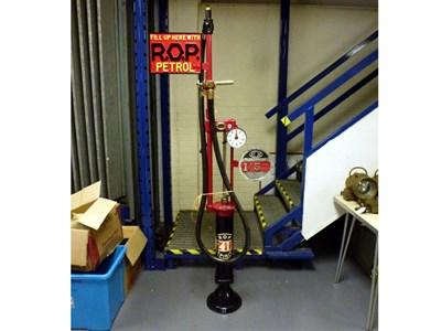 Lot 96 - An Early Gilbert and Barker Hand-Crank Petrol Pump