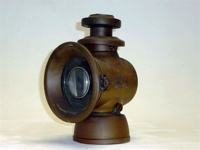 Lot 4 - A Large, Early Lucas 'King of the Road' Side Lamp