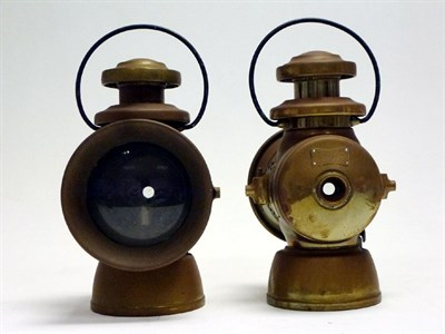 Lot 6 - A Pair of Lucas 'King of the Road' Side Lamps