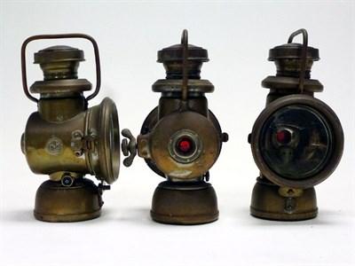 Lot 7 - Three Brass Side Lamps