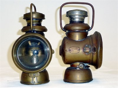 Lot 8 - A Pair of Brass Side Lamps