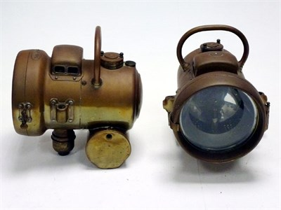 Lot 13-A Pair of 'Powell & Hanmer' Brass Headlamps