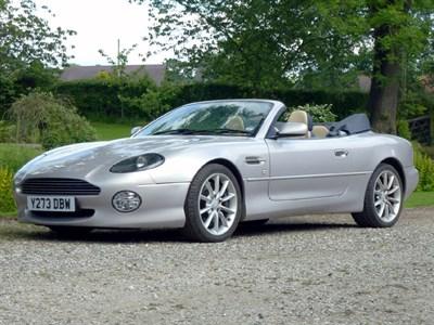 Lot 23-2001 Aston Martin DB7 Vantage Volante