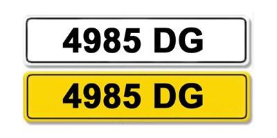 Lot 1 - Registration Number 4985 DG