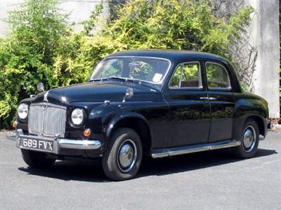 Lot 87-1955 Rover P4 75 MK II