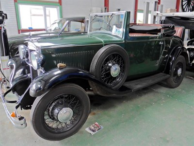 Lot 24 - 1931 Hillman Wizard Drophead Coupe