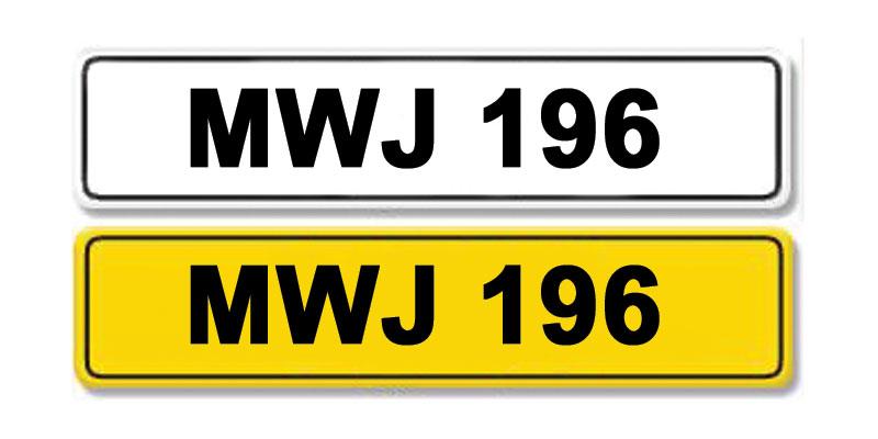 Lot 7 - Registration Number MWJ 196