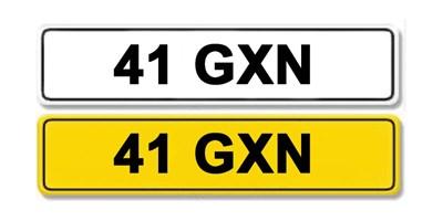 Lot 1 - Registration Number 41 GXN