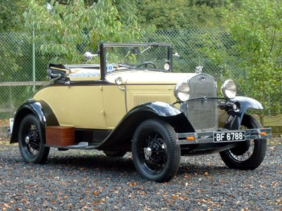 Lot 33-1930 Ford Model A Convertible Cabriolet