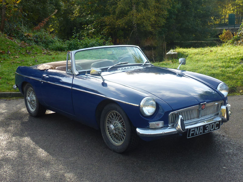 Lot 9-1965 MG B Roadster
