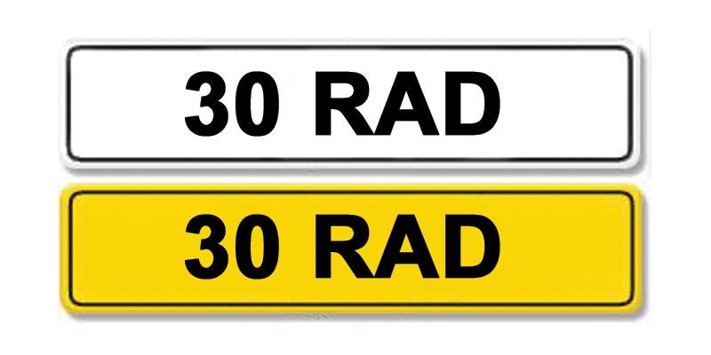 Lot 4 - Registration Number 30 RAD