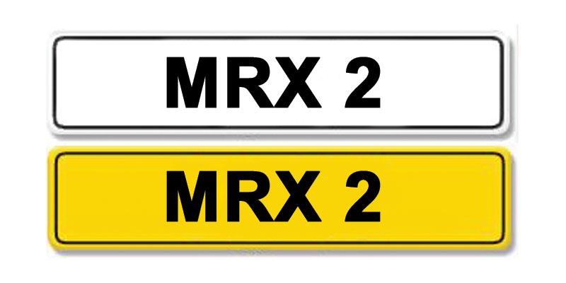 Lot 6 - Registration Number MRX 2