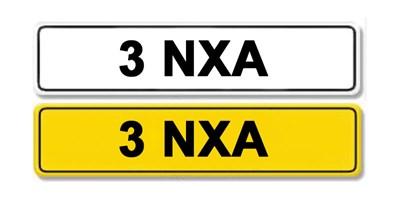 Lot 2 - Registration Number 3 NXA