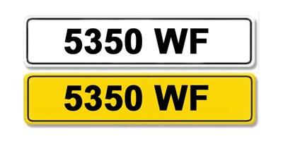 Lot 3 - Registration Number 5350 WF