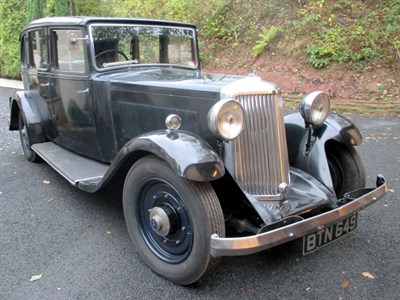 Lot 10 - 1935 Armstrong Siddeley 20hp Saloon