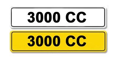 Lot 8 - Registration Number 3000 CC